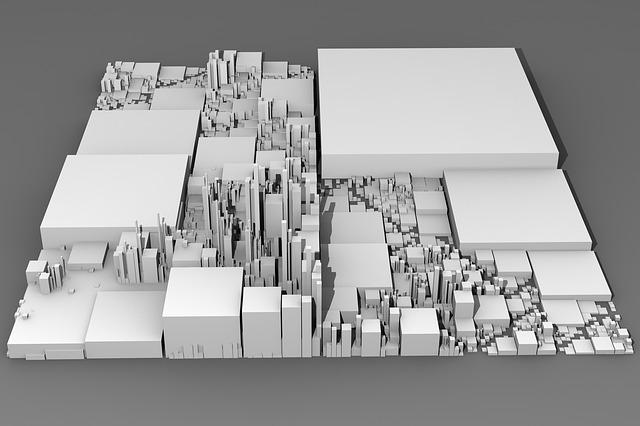 City, Landscape, Building, 3d, Render