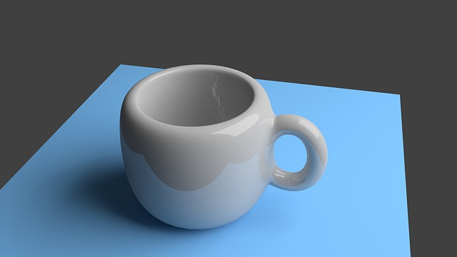 Cup, 3d, Raytracing, Rendered