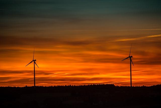 Sunset, Wind Energy, Renewable Energy, Wind Power