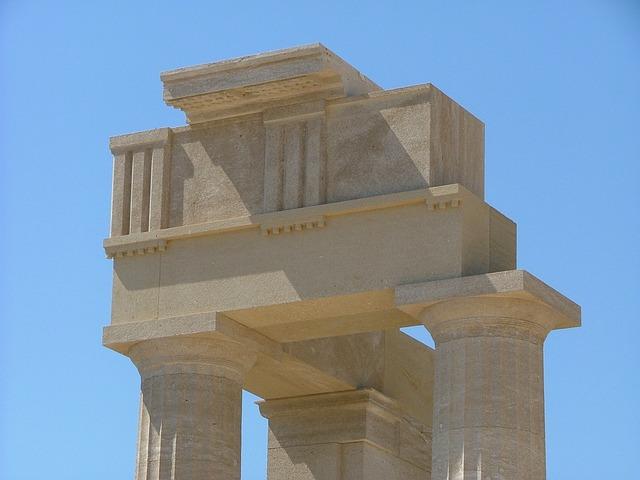 Greece, Rhodes, Lindos, Ruin, Temple, Castle, Renovate