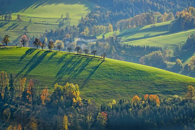 Landscape, Autumn, Green, Reported, Fields, Nature