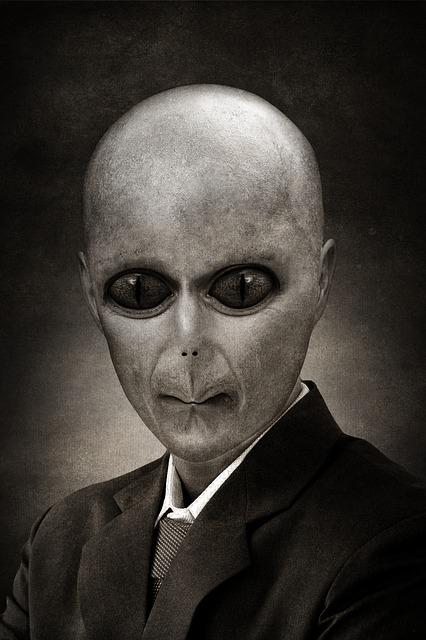 Alien, Reptilian, Portrait, Politician