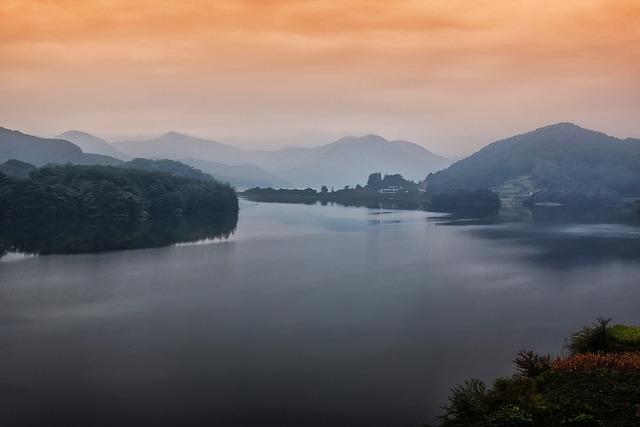 Lake, Jade Ting, Republic Of Korea, Landscape, Korea