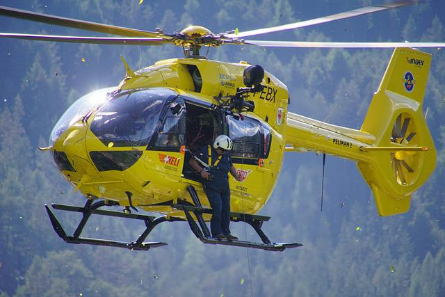 Helicopter, Civil Protection, Pelikan, Yellow, Rescue