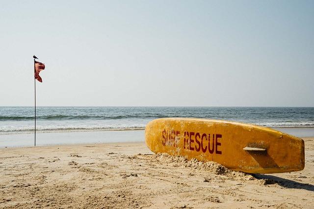 India, Goa, Beach, Rescue, Flag, Sand, Sea, Summer