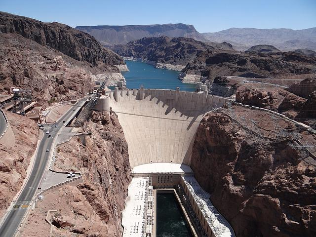 Arizona, Nevada, Hoover Dam, Reservoir, Dam