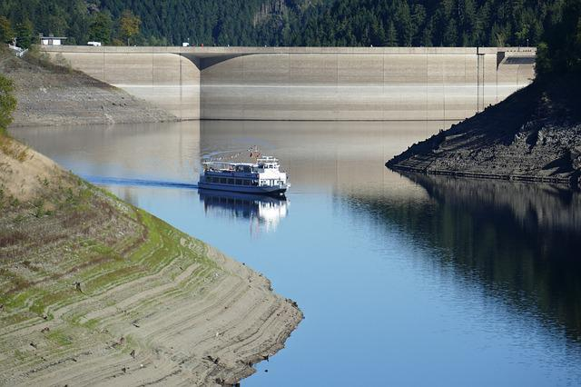 Oker, Dam, Motor Ship, Excursion Steamer, Reservoir