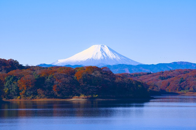 Japan, Mt Fuji, Sayama Lake, Reservoir, Landscape