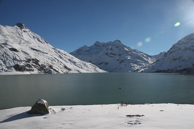 Silvretta, Reservoir, Winter