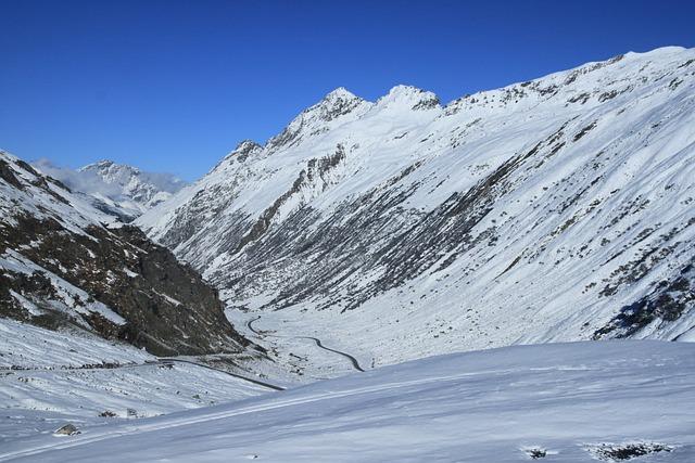 Silvretta, Reservoir, Winter, High Alpine Road