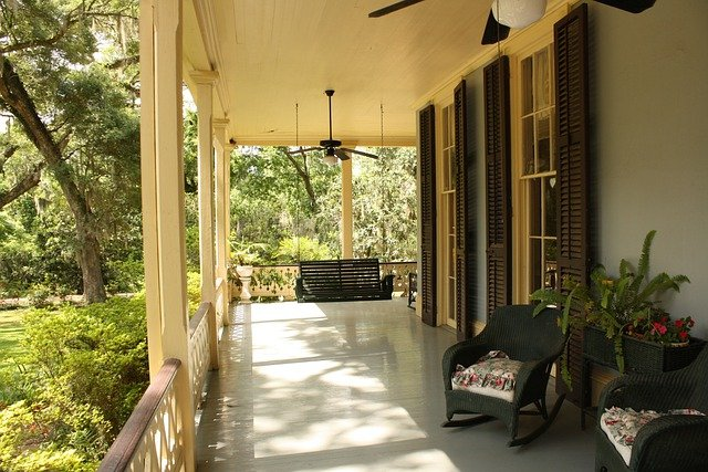 Porch, Front, House, Home, Exterior, Door, Residential