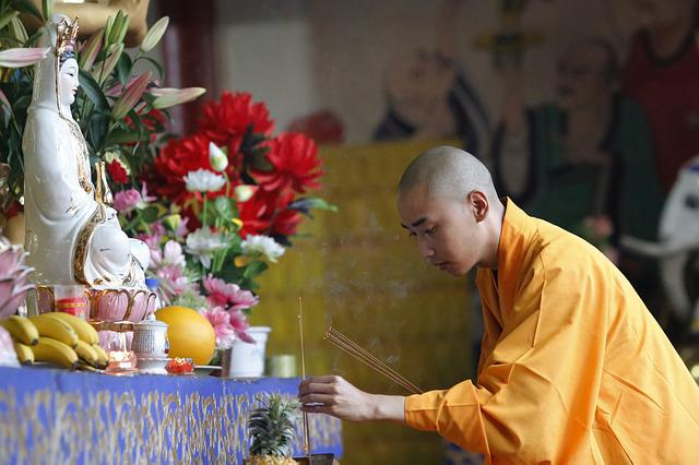 Incense, Respectfully, Monks, Han Pass, Buddhism