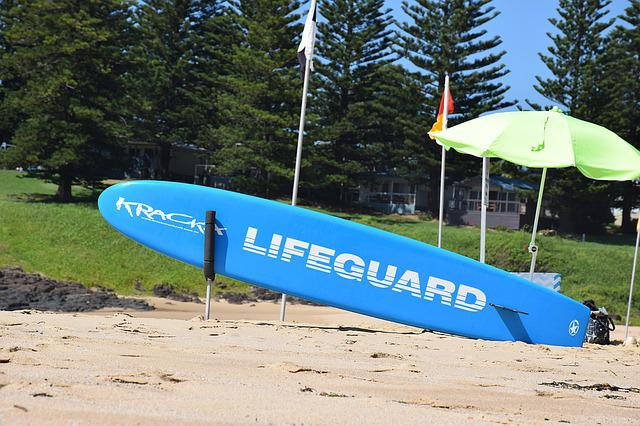 Beach, Australia, Rescuers, Surfboard, Rest, Safety