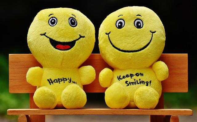 Smilies, Bank, Sit, Rest, Friends, Together, Happy