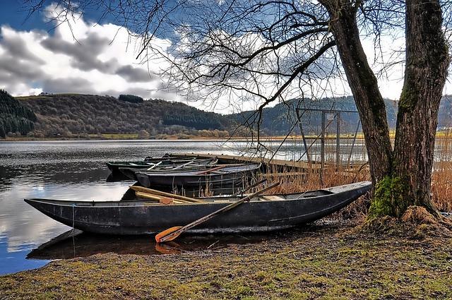 Nature, Maar, Lake, Boats, Mood, Hiking, Rest