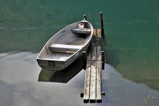 Boat, Haven, Lake, Water, Nature, Rest, Davos