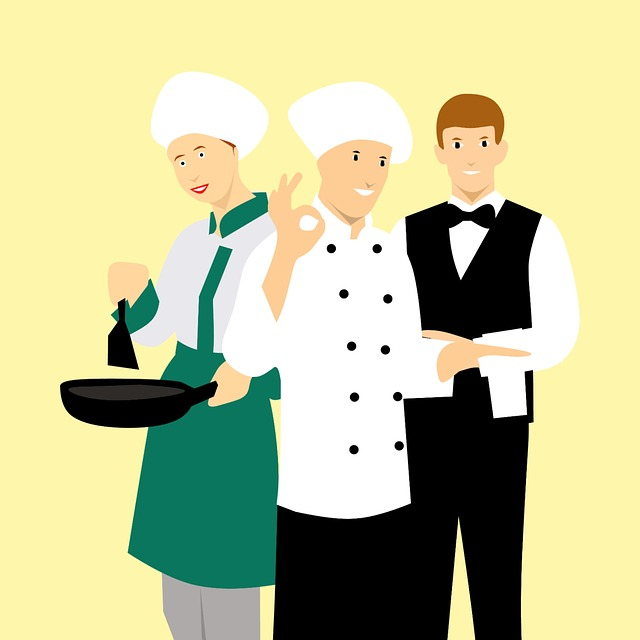 Chef Man Restaurant Cooking Business People