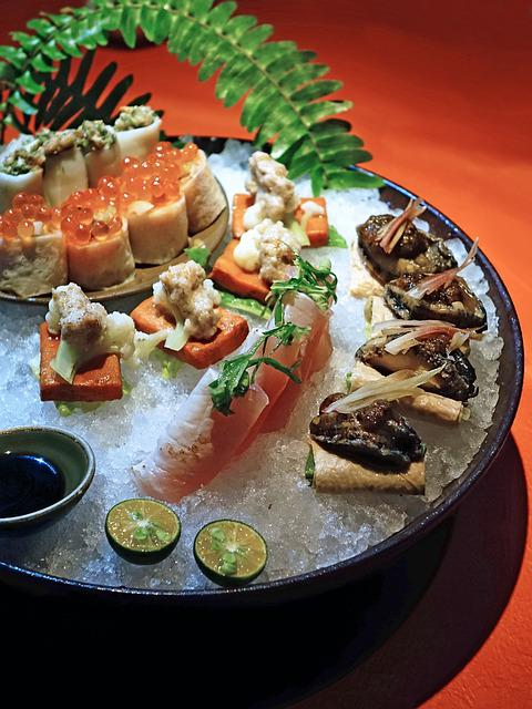 Sushi, Modern Cuisine, Seafoods, Restaurant, Healthy