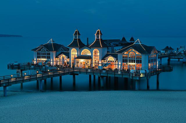 Resort, Beach, Seaside Resort, Restaurant, Sea Bridge