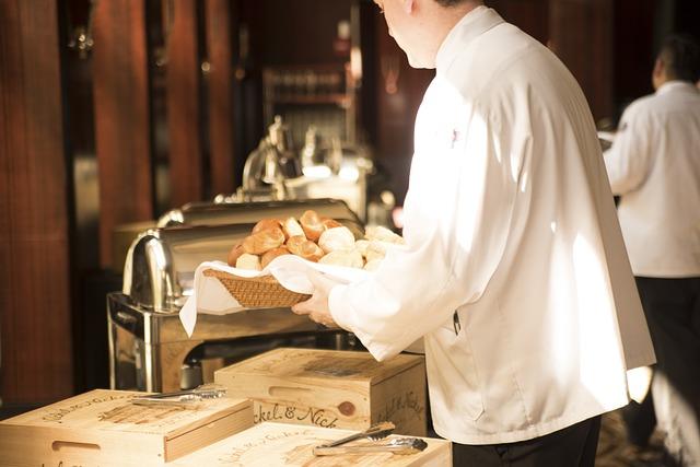 Waiter, Bread, Deliver, Serve, Food, Restaurant