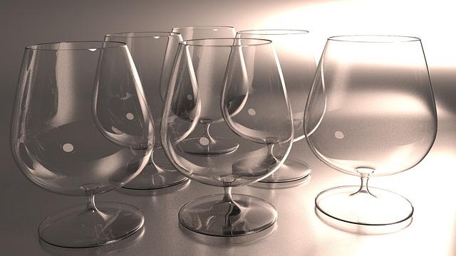 Cognac, Glass, Restaurant, Elegant, Style, Wallpaper