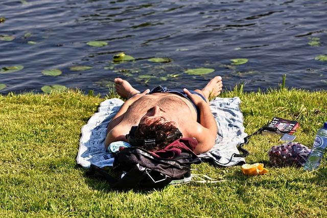 Person, Man, Lying Down, Sunbathing, Resting, Relaxing