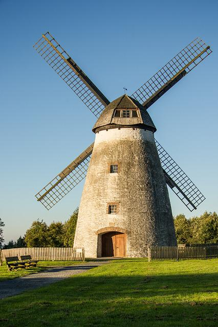Mill, Monument, Wind, Old, Restored, Protected, Grind