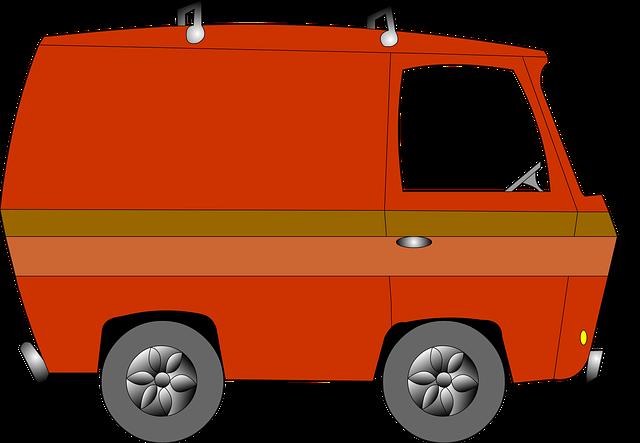 Van, Vintage, Cartoon, Vehicle, Drawing, Car, Retro