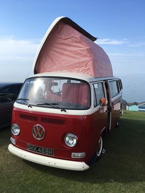 Vw, Campervan, Tankerton, Kent, Camper, Retro, Vintage