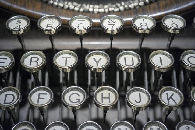 Typewriter, Buttons, Keys, Retro, Vintage, Old, Type