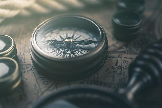 Compass, Map, Retro, Geography, Navigation, Orientation