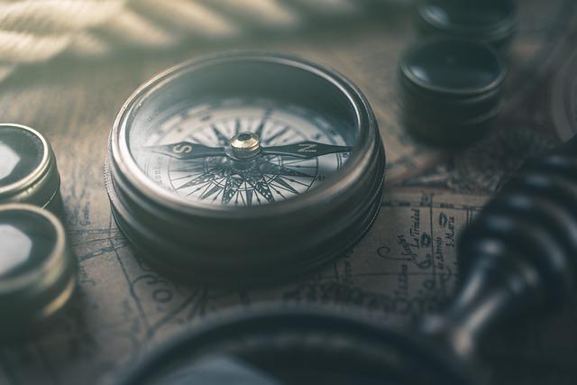 Compass, Map, Retro, Geography, Navigation, Orientation
