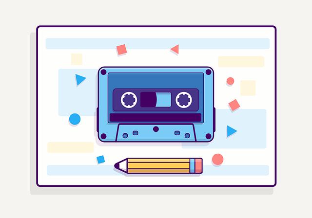Casette, Tape, Retro, Pencil