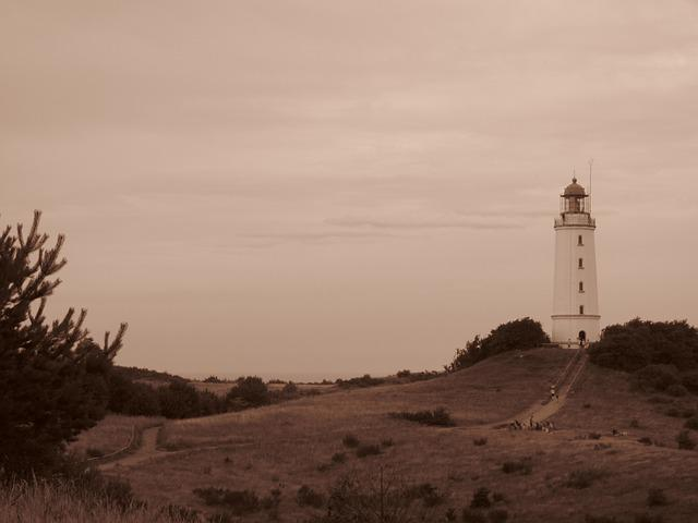 Lighthouse, Rügen, Retro
