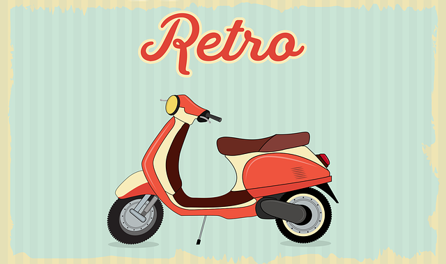 Vintage, Scooter, Retro, Old, Motorcycle, Vehicle