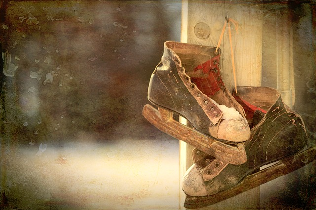 Ice Skates, Skates, Vintage, Winter, Skating, Retro