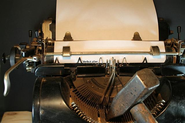 Typewriter, Leaf, Freedom Of Expression, Press, Retro