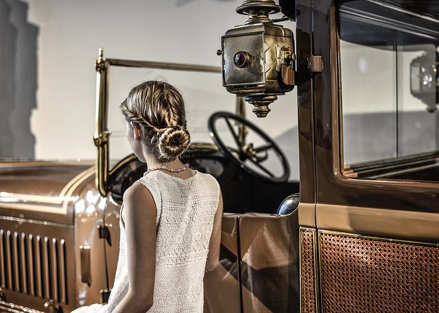 Vehicle, Woman, Retro, Vintage, Car, Machine, Fashion