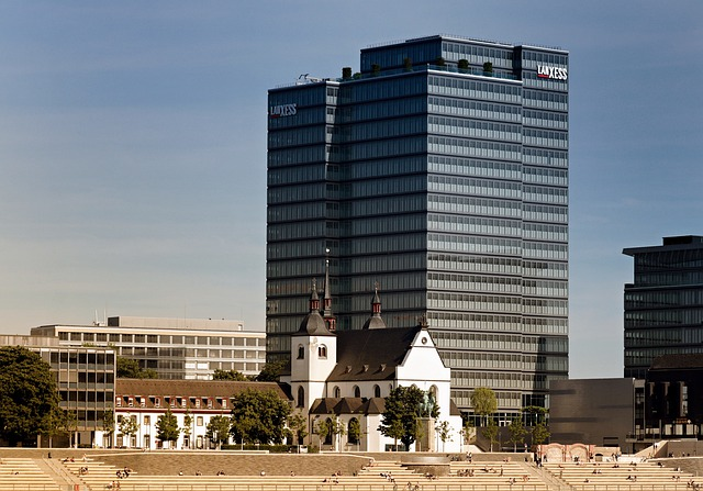 Cologne, Deutz, Rhine River, Church, Building