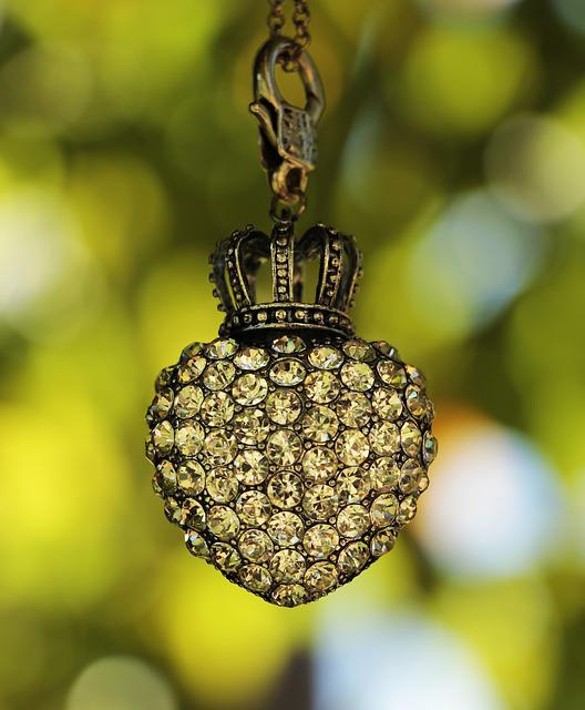 Heart, Crown, Tree, Bokeh, Rhinestone, Rhinestones