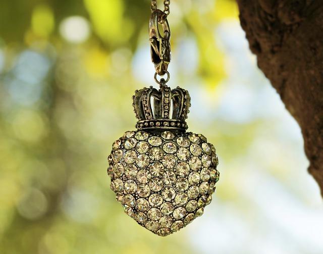 Heart, Crown, Tree, Bokeh, Rhinestone, Rhinestones