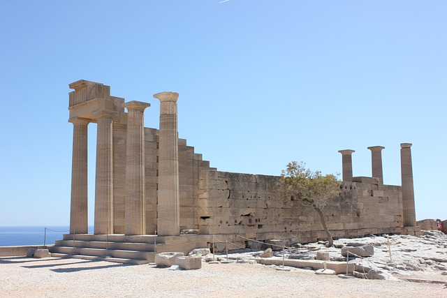 Rhodes, Lindos, Greece, Landmark, Culture, Ruins, Old
