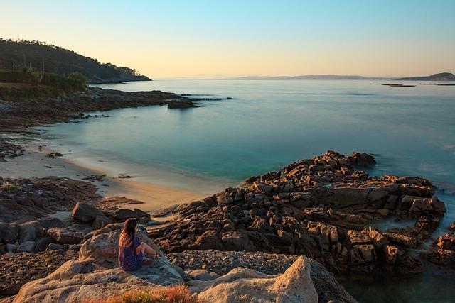 Ria, Aldán, Galicia, Paradise, Water, Sky, Cangas, Rest