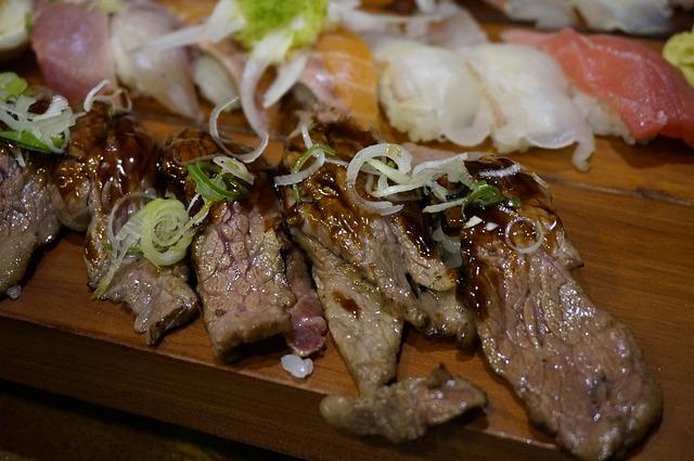 Rib Eye Sushi, Meat Sushi, Han Wu, Rib Eye