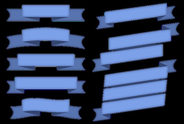 Ribbon, Ornament, Design, Copyspace, Blank, Strips