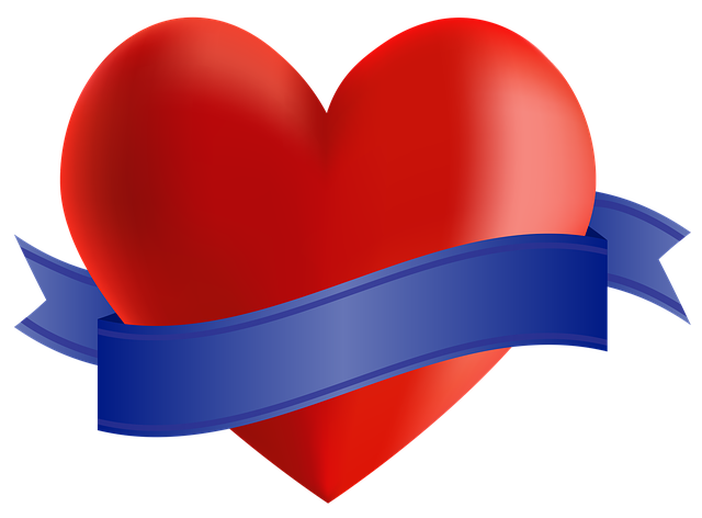 Icon, Heart, Ribbon, Banner, Copy Space, Valentine