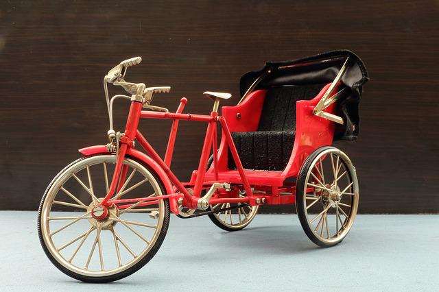 Miniature, Rickshaw, Bike, Tricycle