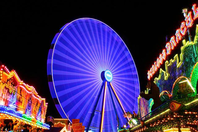 Ferris Wheel, Night, Folk Festival, Ride, Fair
