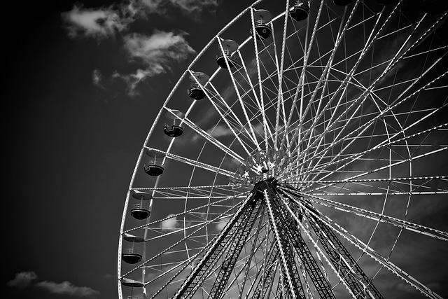 Ferris Wheel, Ride, Leisure, Fairground, Carousel, Sky
