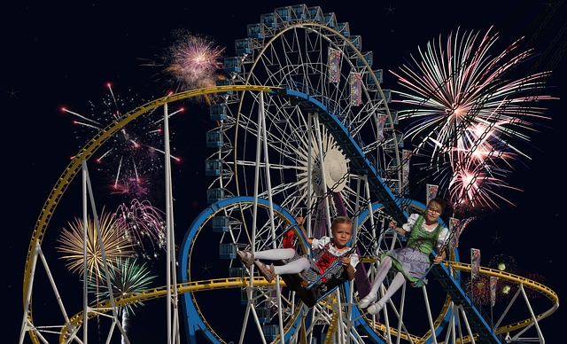 Oktoberfest, Ferris Wheel, Roller Coaster, Ride